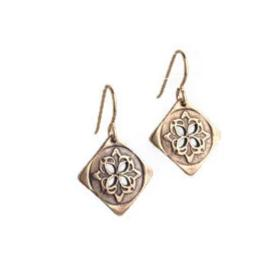 Medallion Earrings Bronze or Copper