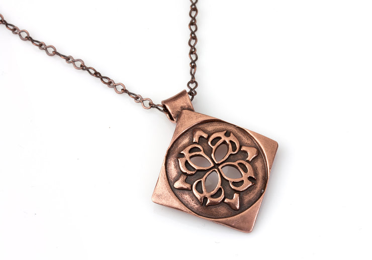 Medallion Pendant Bronze or Copper