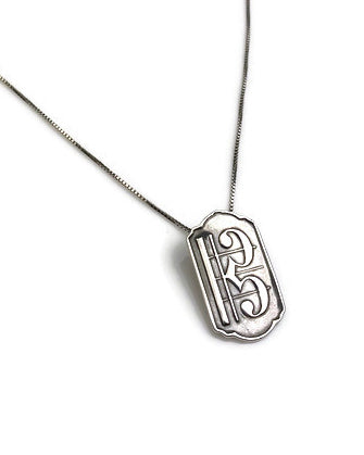 Middle Clef Silver Pendant