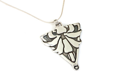 Pointed Lily Silver Pendant