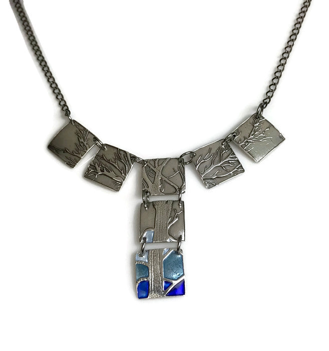 Oak and Blue Ridge Pendant