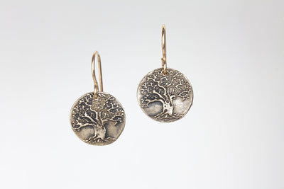 Tree of Life Earrings Bronze