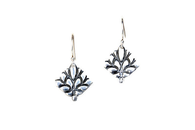 Spray Silver Earrings