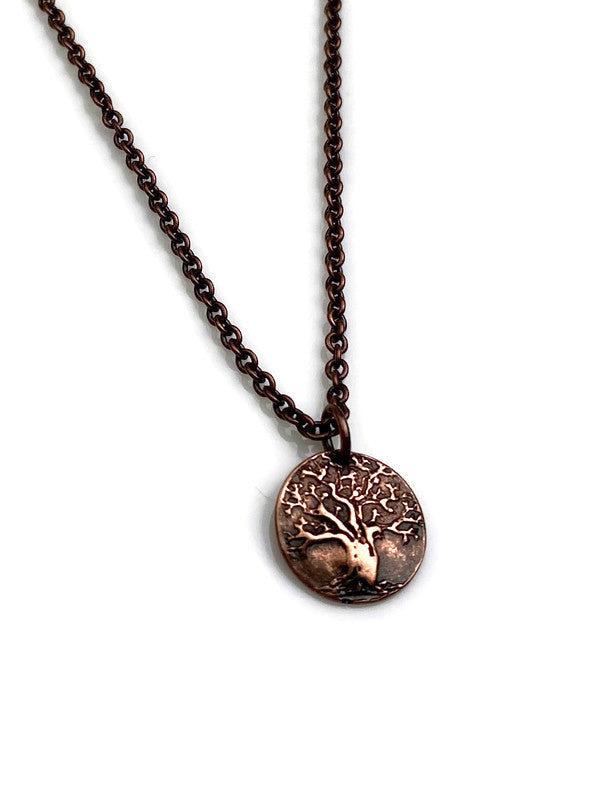 Tiny Tree of Life Bronze or Copper Pendant