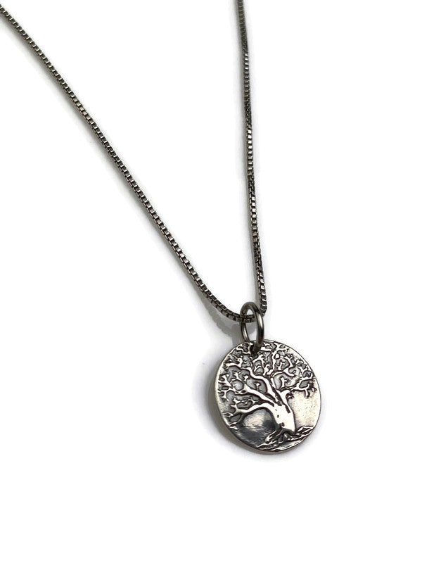 Tiny Tree of Life Silver Pendant