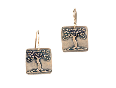 Tree Earrings Bronze