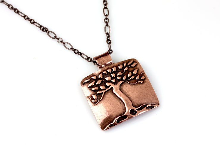 Tree Pendant Copper