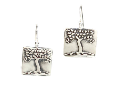 Tree Earrings Silver