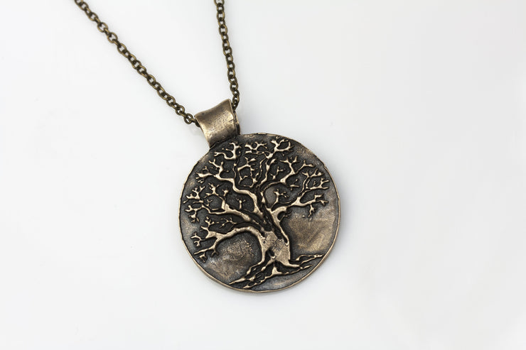 Tree of Life Pendant Medium Bronze