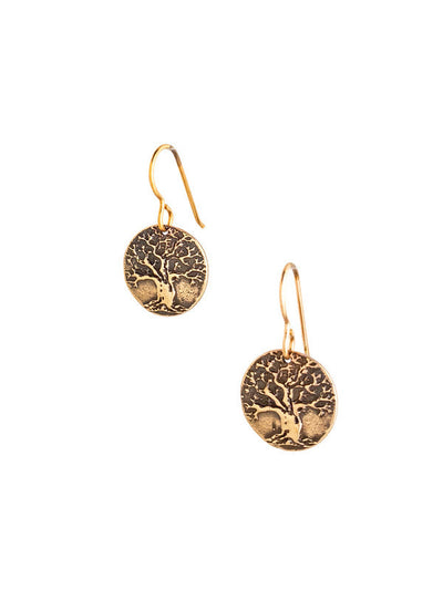 Tree of Life Earrings Small Bronze