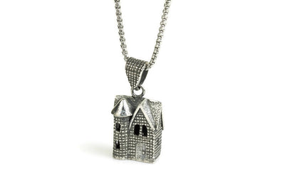 Victorian House Silver Pendant