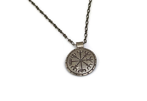 Viking Compass Vegvisir Bronze or Copper Pendant