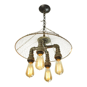 Modern Farmhouse 4-Light Chandelier