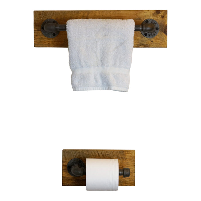 Matching Towel and TP Holder Set
