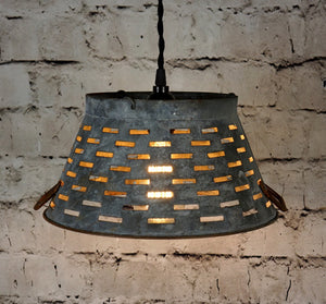 Galvanized Basket Light