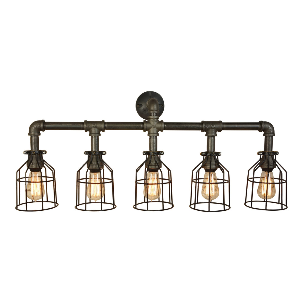 Farmhouse Vanity Five Light