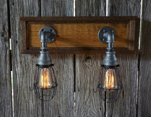Rustic Vanity Two Light