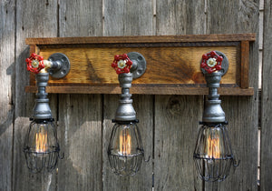 Farmhouse Vanity 3-Light With Wire Cages
