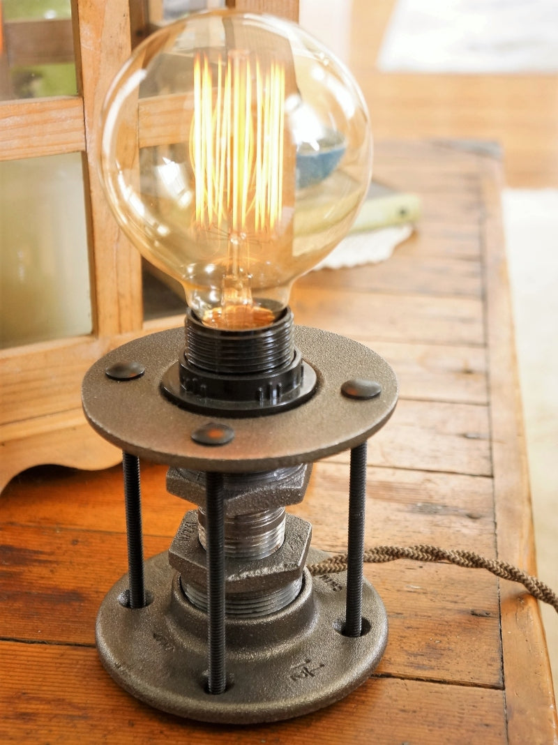 Keystone Table Lamp With Edison 40W Edison Bulb