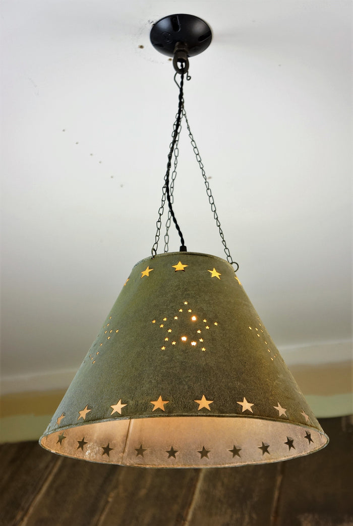 Farmhouse Style Galvanized Light