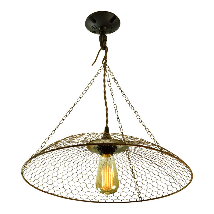 Chicken Basket Wire Light