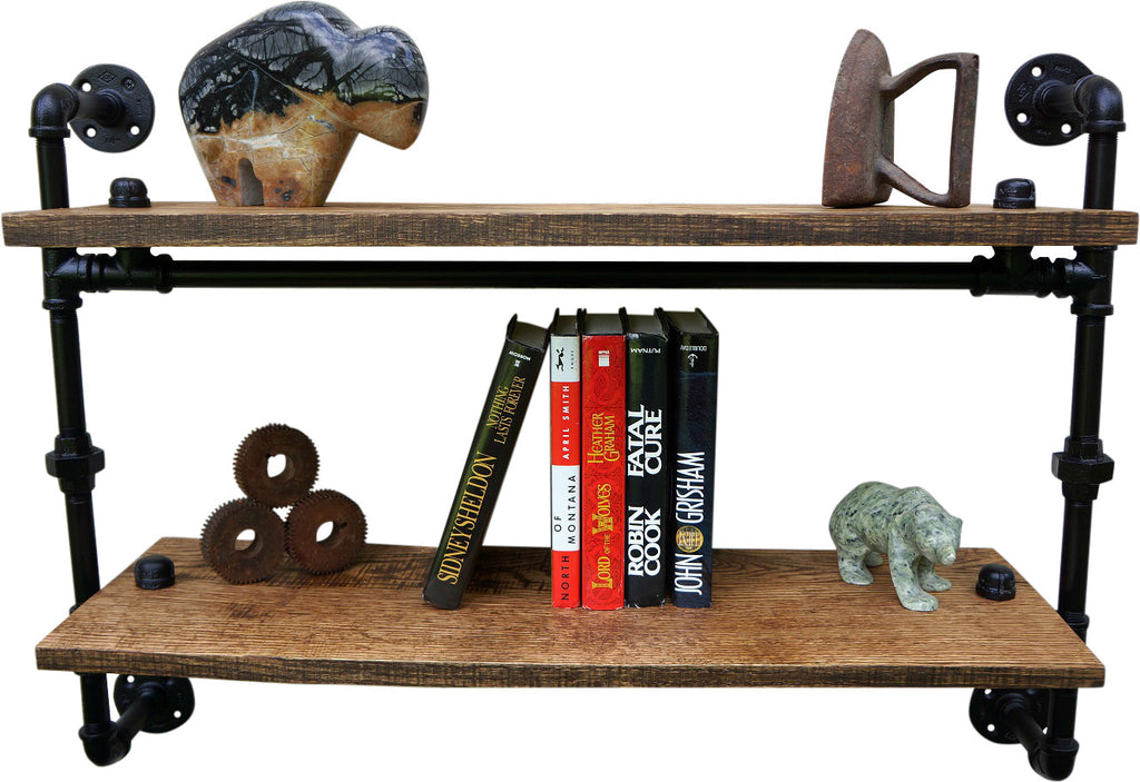 Greenbriar Iron And Reclaimed Wood Wall Shelf
