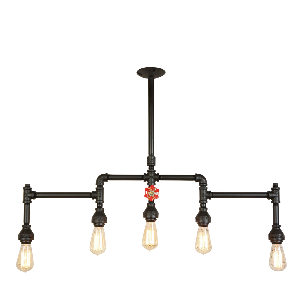 Canton Five Light With Brass Water Valve