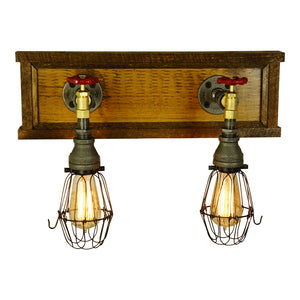 Farmhouse Vanity 2-Light With Brass Valves