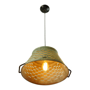 Extra Large Galvanized Basket Light