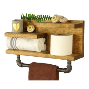 Midway Bathroom Accessory Shelf With Towel Bar