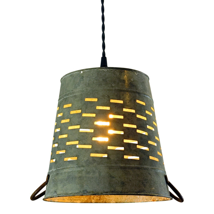 Punched Tin Galvanized Light