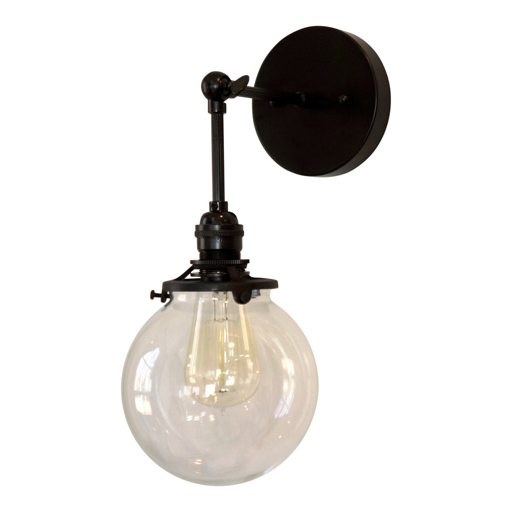 Ridgeway Clear Globe Wall Light