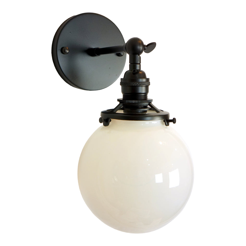 Gateway 1-Light Opal Globe Wall Sconce