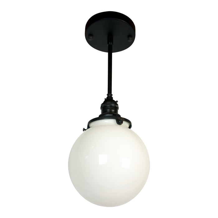 Sentry 1-Light Opal Globe Pendant