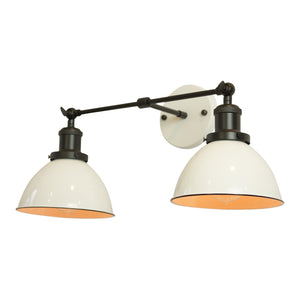 Modern Farmhouse 2-Shade Vanity Light