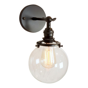 Gateway II Clear Globe Wall Sconce