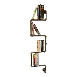 Industrial Iron Book Shelf