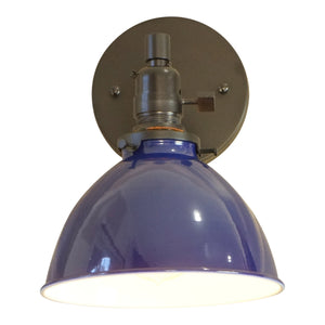 North Shore 1-Light Wall Sconce, Azure Blue Lamp Shade