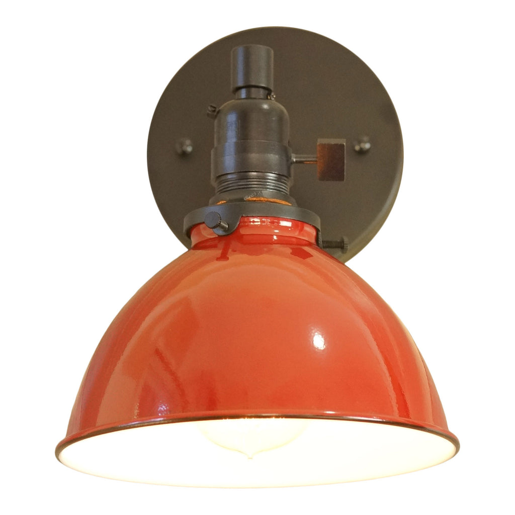 North Shore 1-Light Wall Sconce, Colonial Red Lamp Shade