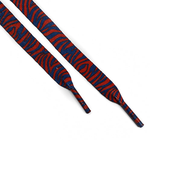 Purple Orange Tiger Print Laces (Unisex)