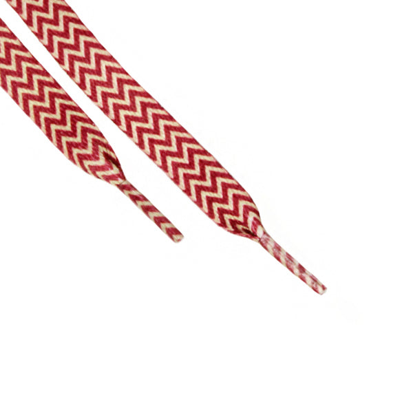 Red White Chevron Laces (Unisex)