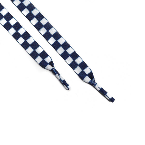 Navy White Checkerboard Laces (Unisex)