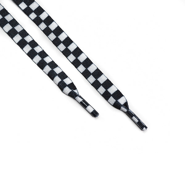 Black White Checkerboard Laces (Unisex)