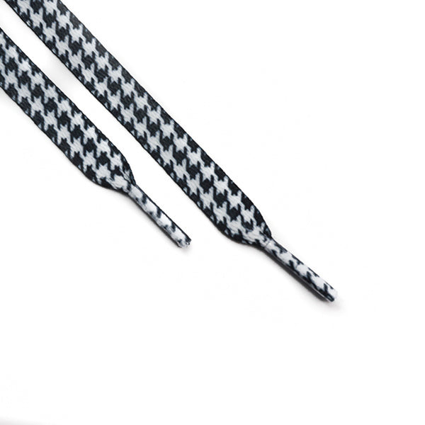 Black White Houndstooth Laces (Unisex)