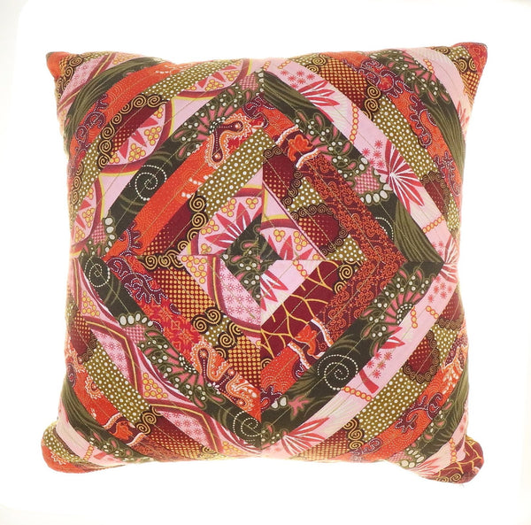 Africa Print Fabric Decorative Pillow