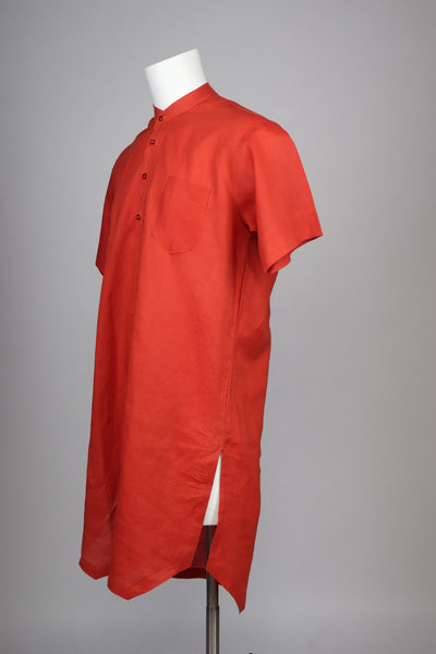 Orange Color Long African Style - Long Senator Style Shirt