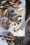 Super Fudgy, Flourless, Dark Chocolate Sweet Potato Brownies