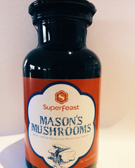 Mason's Mushrooms Miron Violet glass