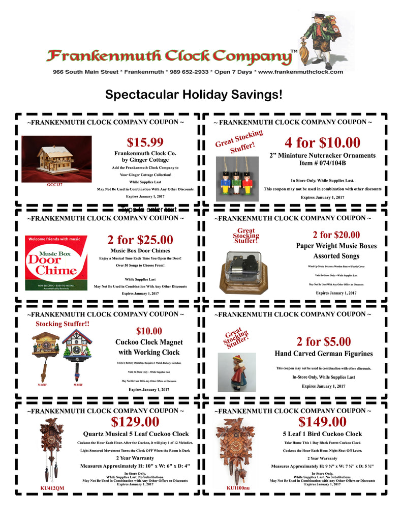 store coupons frankenmuth clock company printable coupons