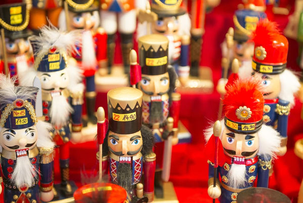 5 German Hand-Carved Wood Souvenirs